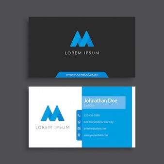Modelo de cartão-de-visita - azul e preto