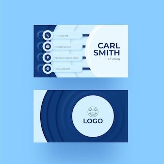 Modelo de cartão de visita azul escuro neumorph