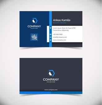 Modelo de cartão-de-visita - azul geométrico moderno