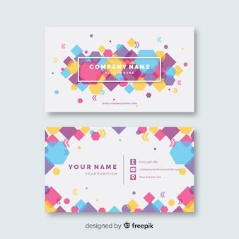 Modelo de cartão de visita colorido abstrato do modelo