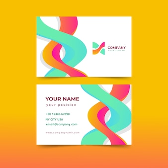 Modelo de cartão de visita colorido abstrato moderno