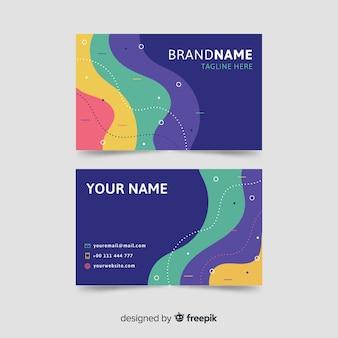 Modelo de cartão de visita colorido abstrato