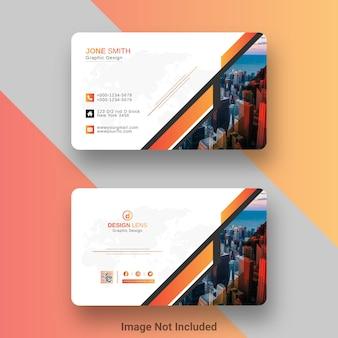 Modelo de cartão de visita colorido criativo estilo laranja e preto