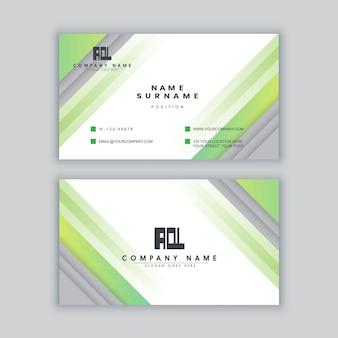 Modelo de cartão de visita colorido minimalista elegante