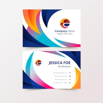 Modelo de cartão de visita colorido