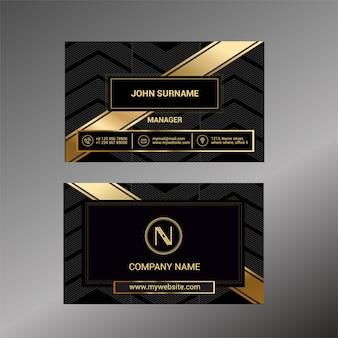 Modelo de cartão de visita com black deluxe Vetor Premium