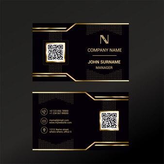 Modelo de cartão de visita com black deluxe