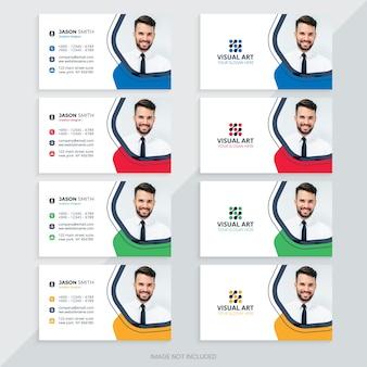 Modelo de cartão de visita com cores diferentes
