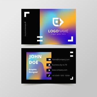 Modelo de cartão de visita com cores gradientes