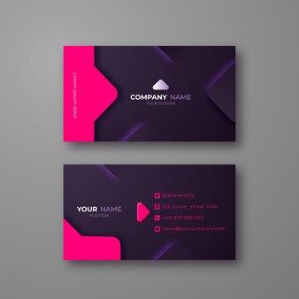 Modelo de cartão de visita com design neumorph Vetor Premium