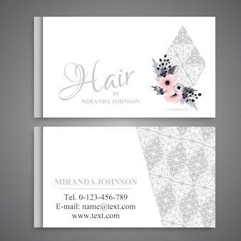 Modelo de cartão de visita com flores