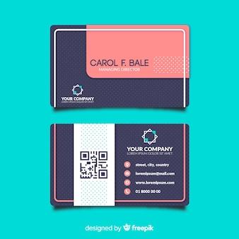 Modelo de cartão de visita com forma abstrata