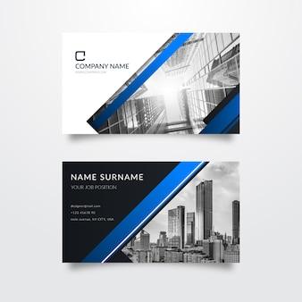 Modelo de cartão de visita com foto