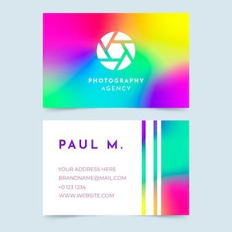 Modelo de cartão de visita com logotipo