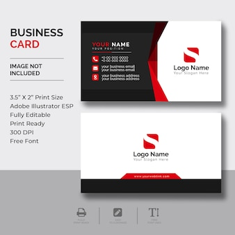 Modelo de cartão-de-visita - corporativo