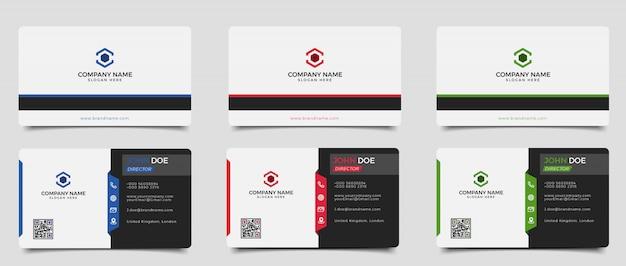 Modelo de cartão de visita criativo e limpo moderno de vetor