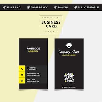 Modelo de cartão de visita criativo e limpo moderno em design plano
