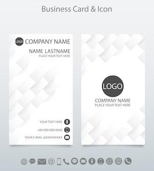 Modelo de cartão de visita criativo moderno e ícone.