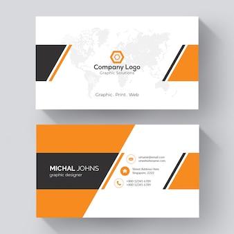 Modelo de cartão de visita criativo Vetor Premium
