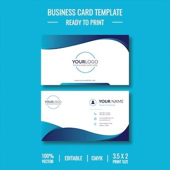 Modelo de cartão de visita criativo