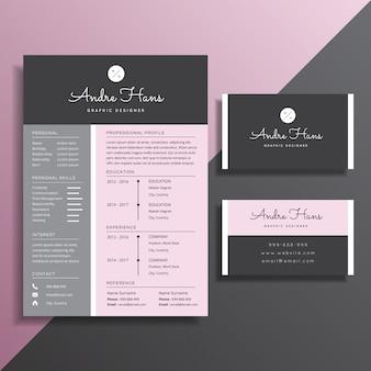 Modelo de cartão-de-visita - currículo profissional simples