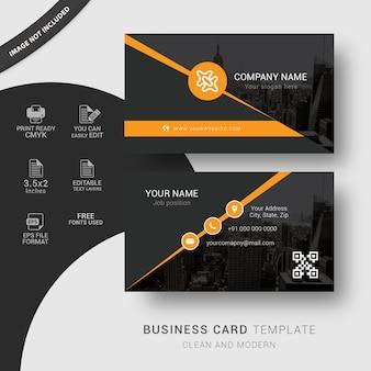 Modelo de cartão de visita da agência