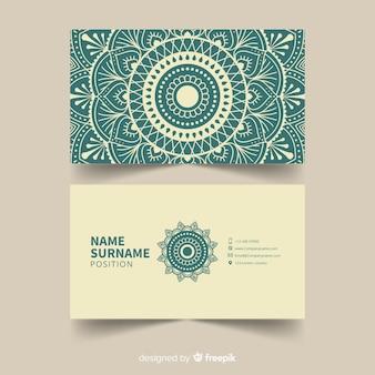 Modelo de cartão de visita da mandala