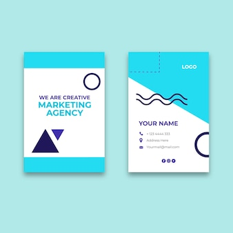 Modelo de cartão de visita de agência de marketing