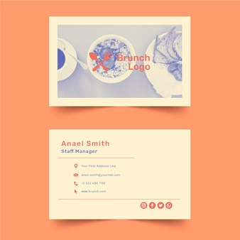 Modelo de cartão de visita de brunch