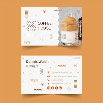 Modelo de cartão de visita de cafeteria