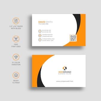Modelo de cartão de visita de cartão de visita