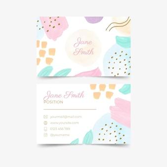 Modelo de cartão de visita de casamento