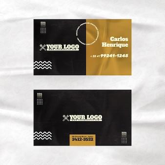 Modelo de cartão de visita de churrasco