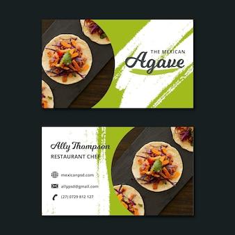 Modelo de cartão de visita de comida mexicana