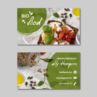 Modelo de cartão de visita de comida saudável