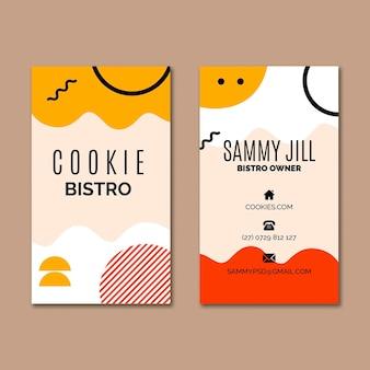Modelo de cartão de visita de cookies
