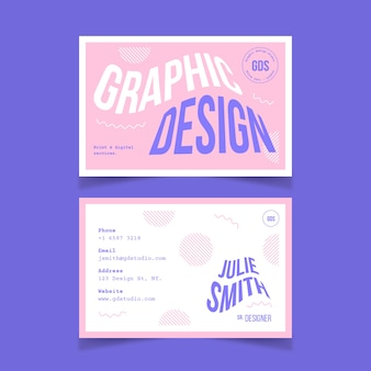 Modelo de cartão de visita de designer criativo
