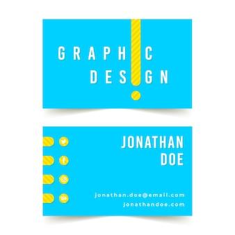 Modelo de cartão de visita de designer