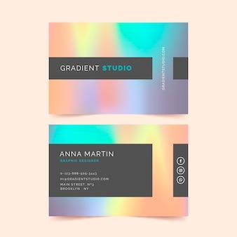 Modelo de cartão de visita de estilo colorido