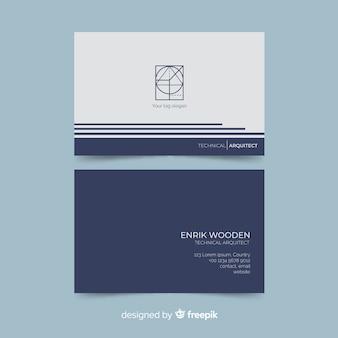 Modelo de cartão de visita de estilo elegante