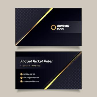 Modelo de cartão de visita de luxo gradiente dourado