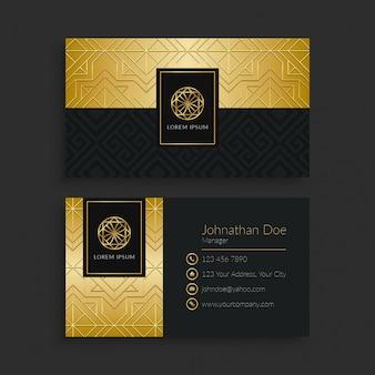 Modelo de cartão de visita de luxo