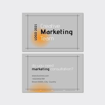 Modelo de cartão de visita de marketing