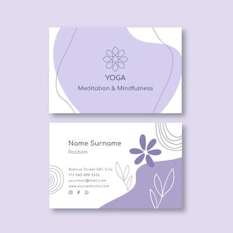 Modelo de cartão de visita de meditação e atenção plena