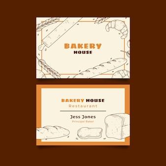 Modelo de cartão de visita de negócios para padaria