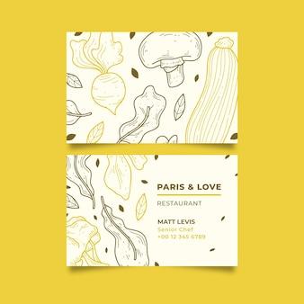 Modelo de cartão de visita de negócios para restaurante natural