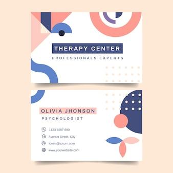 Modelo de cartão de visita de psicologia Vetor Premium