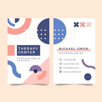 Modelo de cartão de visita de psicologia