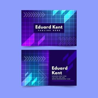 Modelo de cartão de visita de quadrados e formas