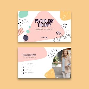 Modelo de cartão de visita de terapia psicológica